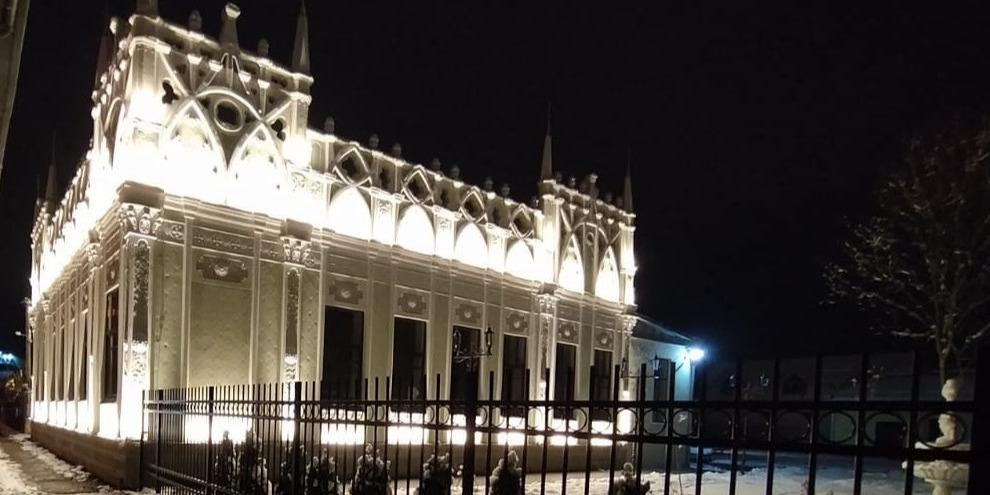 Ночная подсветка дома купца Мазепы